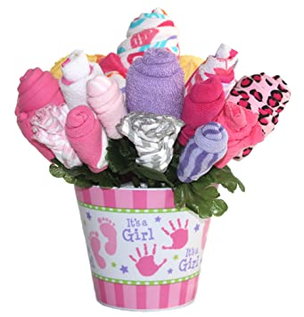 Amazon Baby Bouquet Made With Baby Clothes And Accessories