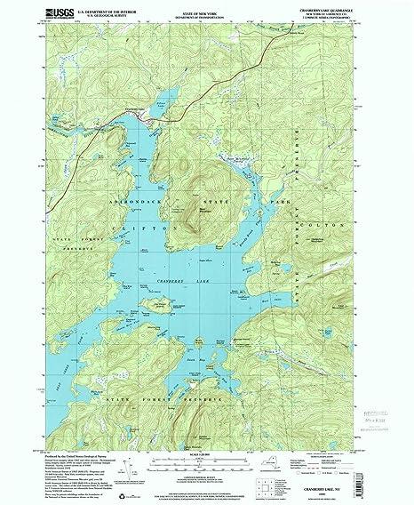 Map Of New York 2001.Amazon Com Yellowmaps Cranberry Lake Ny Topo Map 1 24000 Scale