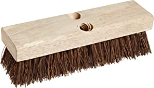 "Weiler 44026 10"" Block Size, 6 X 18 No. Of Rows, Palmyra Fill, Wood Block, Deck Scrub Brush"