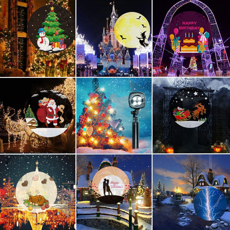 PAIGOU Halloween Christmas Projector Lights 22 Mode Moving Spotlight