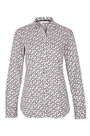 eterna Langarm Damen Bluse Slim FIT Blau Rot Weiss Bedruckt aus 97%  Baumwolle 21bf25763b
