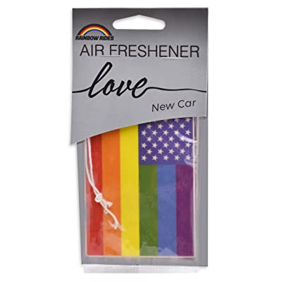 Rainbow Rides Pride Flag Air Freshener - 6 Pack - New Car Scent: Automotive