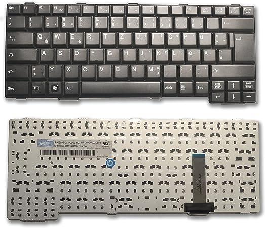 FSC Fujitsu Lifebook E751, S751, S752, S760, S761 S781 S782 S792 T901 ah701 Teclado Negro