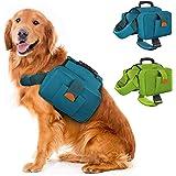 Dog Backpacks Pet Harness Carrier Travel Camping Hiking Backpack Saddle Bag Free Size for Medium & Large Dog