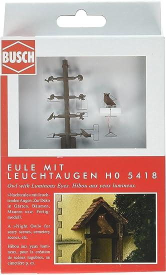Busch 5418 Eule mit Leuchtaugen H0