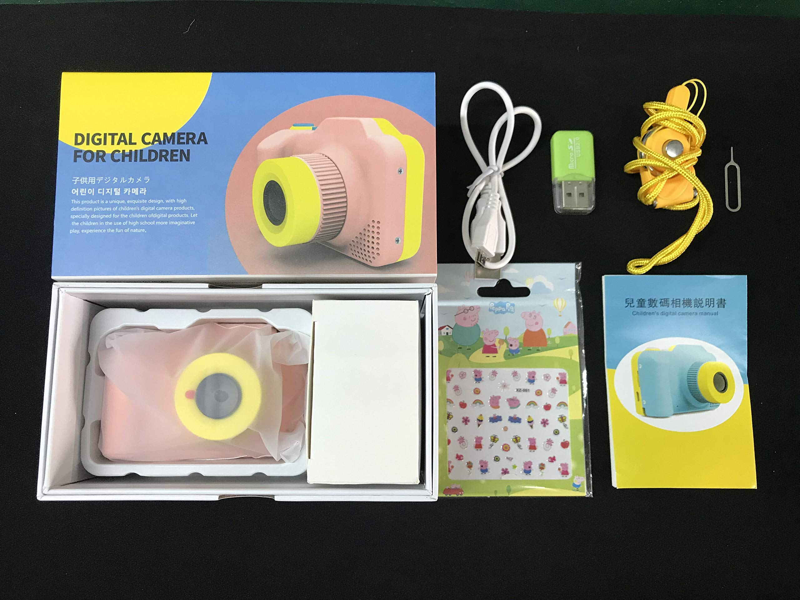 [Upgraded]Kids Camera 1080P Rechargeable Digital Front and Rear Selfie Camera Child Camcorder for Outdoor Play, for 3-10 Years Old Children(Barbie Pink) by HYKT (Image #7)