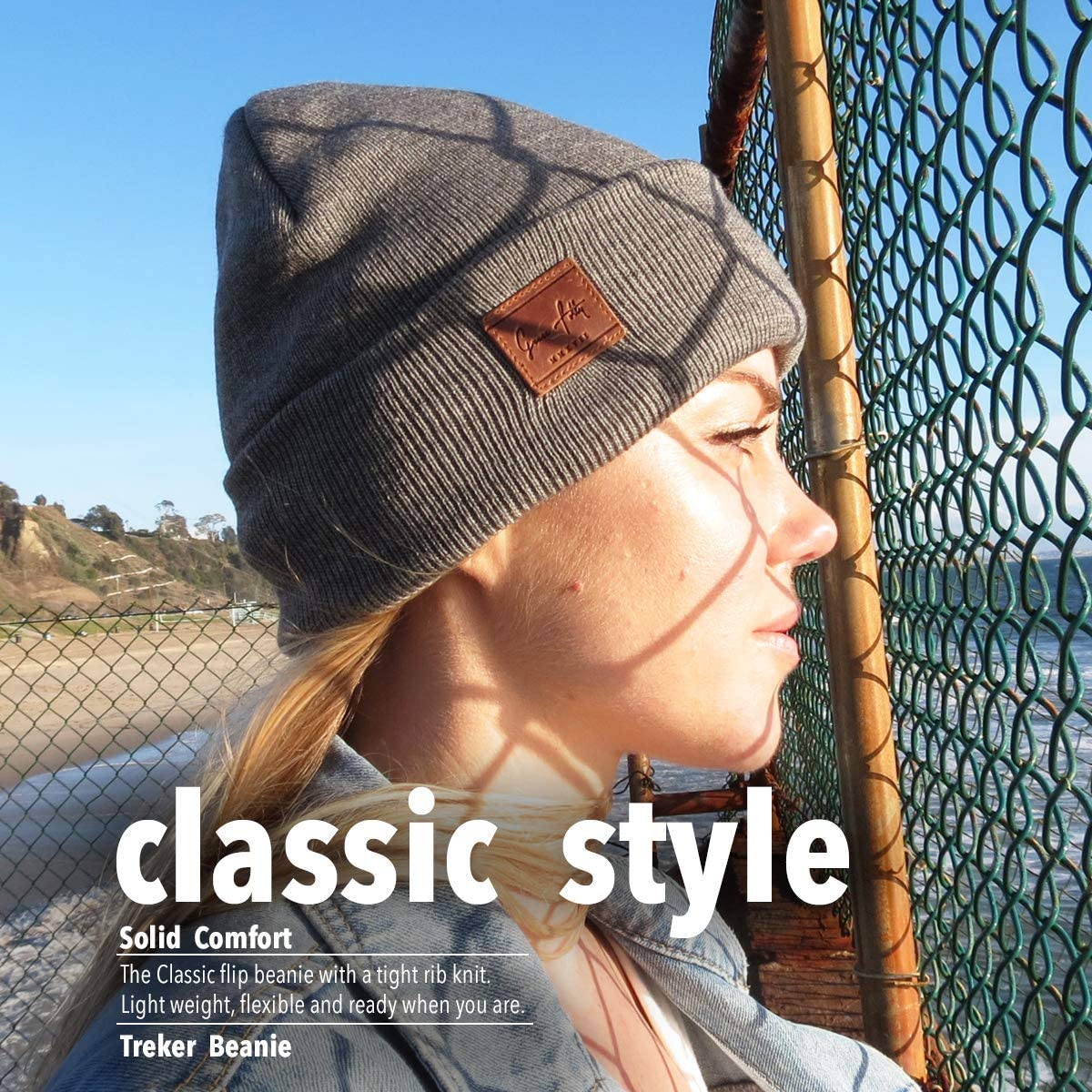 Cuffed Acrylic Hat Beanies With Matching Keychain Grace Folly Fold Up Beanie