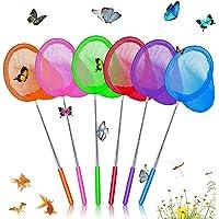 Visnetten Uitschuifbaar 6 Pcs,Vlindernet voor Kinderen,Telescopische Vlindernetten,Kinderen Insect Vanggen Mesh,Kids…