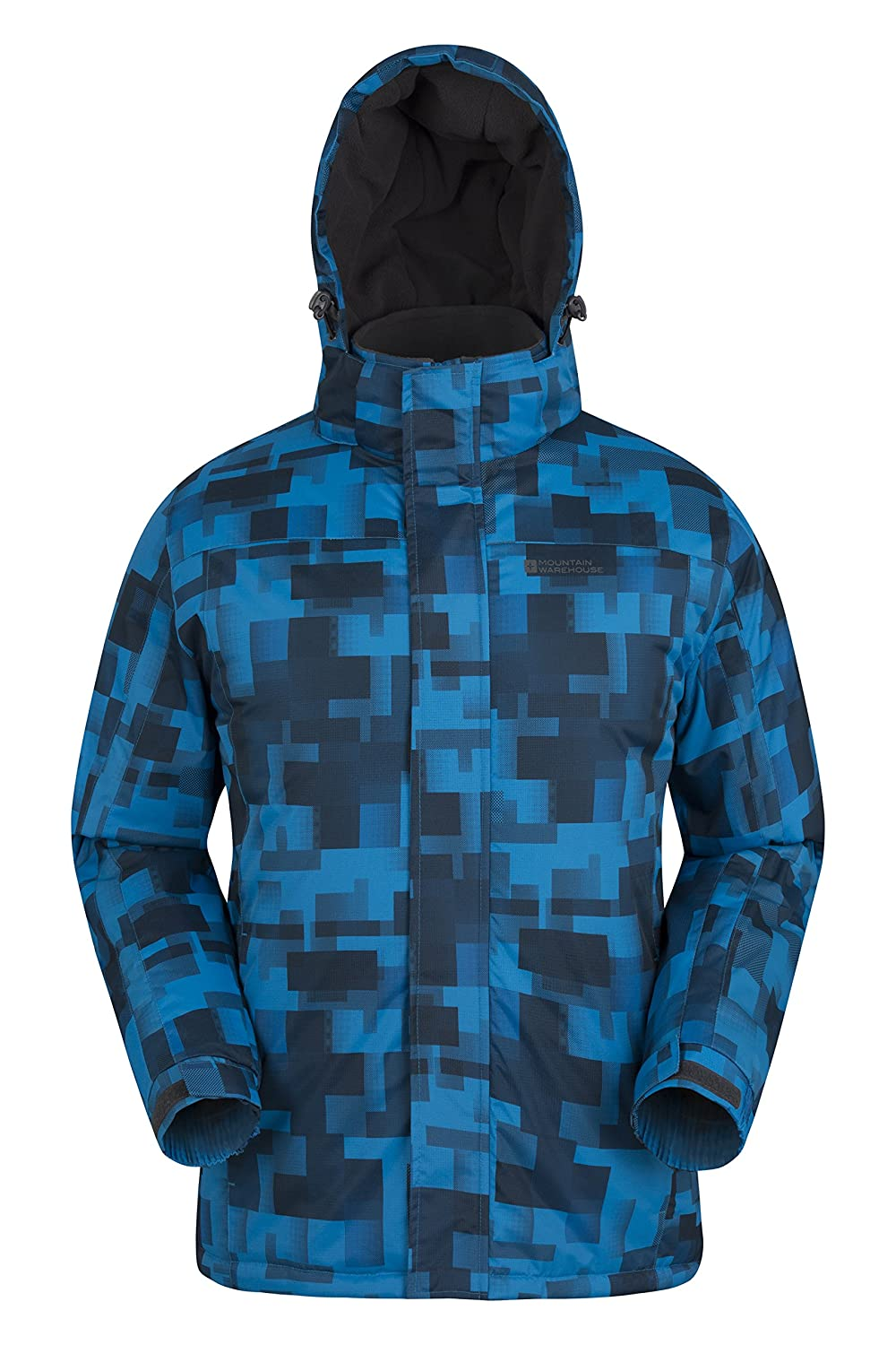 Mountain Warehouse Shadow Men's Printed Ski Jacket Snow Proof, Insulated & Fleece
