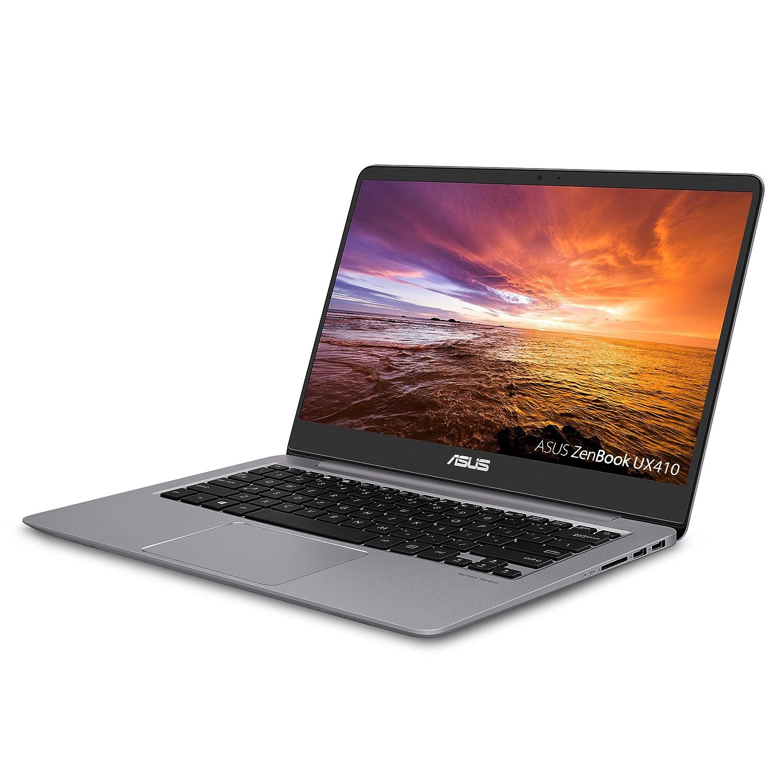 ASUS ZenBook Ultra-Slim Laptop – 14 FHD IPS WideView Display, Intel Core i7-8550U CPU, 8GB DDR4, 128GB SSD 1TB HDD, Windows 10, Backlit keyboard, 3.1lbs, Quartz Grey – UX410UA-AS74