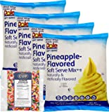 Dole Pineapple Lactose-Free Soft Serve Mix 4.4 Pound Bulk Bag (Pack of 4) with By The Cup Rainbow Sprinkles