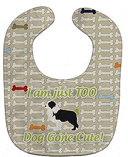 Caroline's Treasures Dog Gone Cute Baby Bib, Saint Bernard, Large