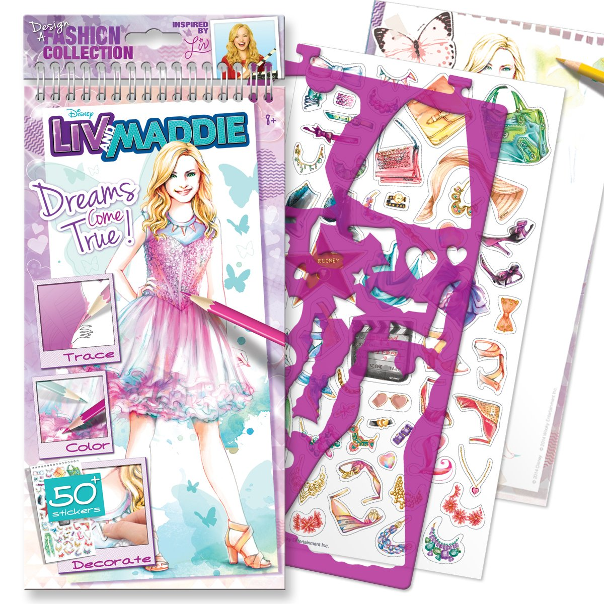 Printable coloring pages liv and maddie - Amazon Com Style Me Up Disney Channel Liv And Maddie Dreams Come True Small Sketchbook Toys Games