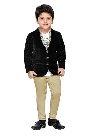 1383ded73e AJ DEZINES Boy's Velvet Party Wear Suit Set