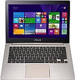 Asus Zenbook UX303LA-RO340H 33,7 cm (13,3 Zoll HD) Ultrabook (Intel Core i5-5200U, 8GB RAM, 128GB SSD, Intel HD 4400, Win 8.1) Bronze, Edelstahl