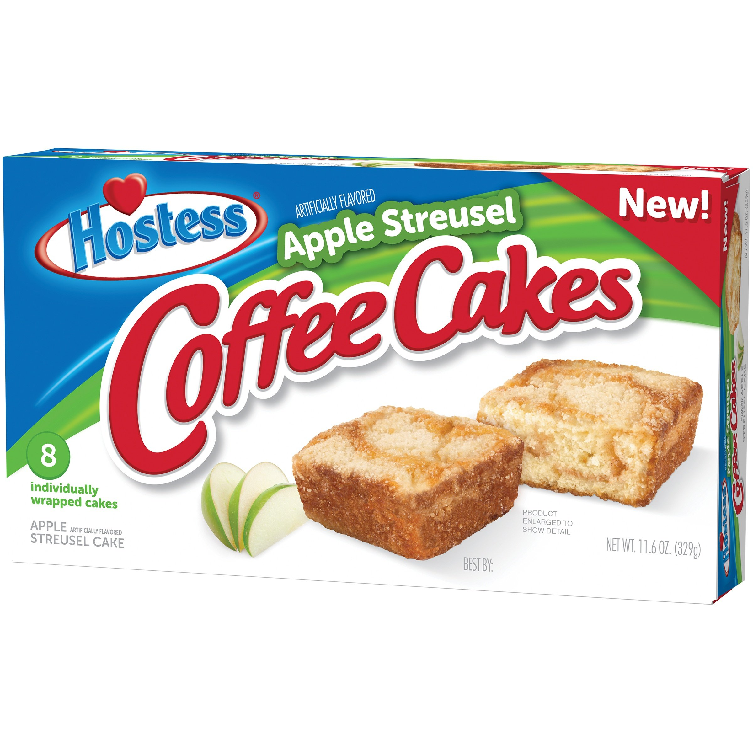 Hostess Coffee Cakes [One Box with 8 Snack Cakes] (Apple Streusel)