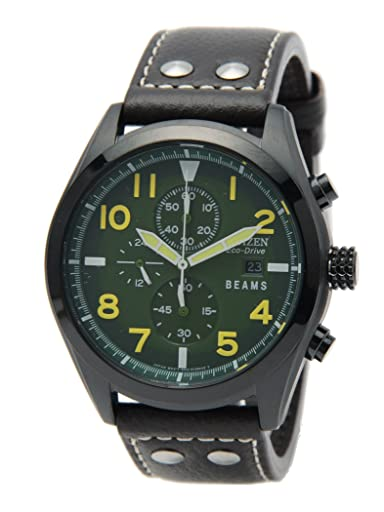 Eco-Drive Military 11-48-0160-848: Green / Khaki