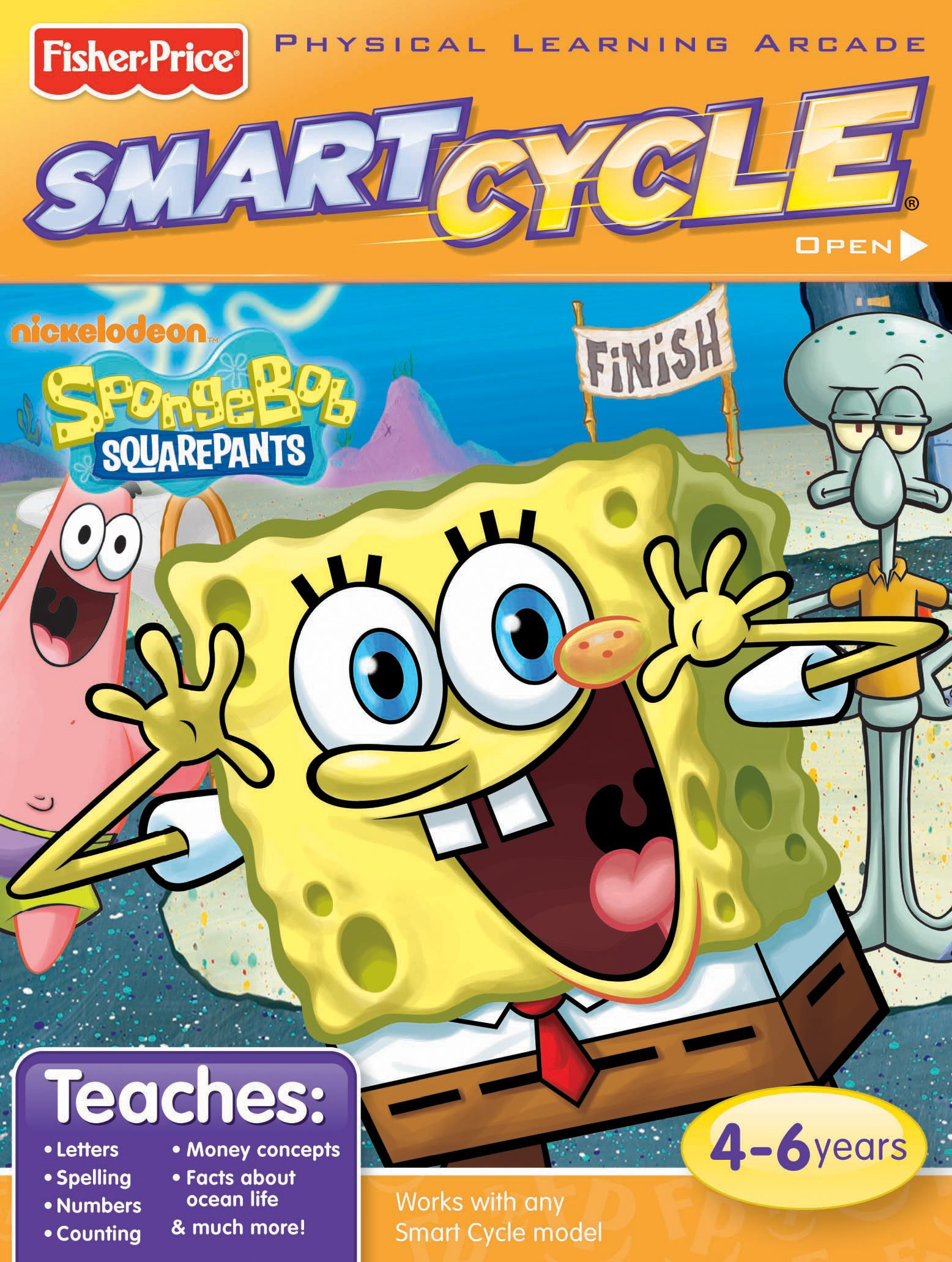 Fisher-Price Smart Cycle [Old Version] SpongeBob Software Cartridge by Nickelodeon