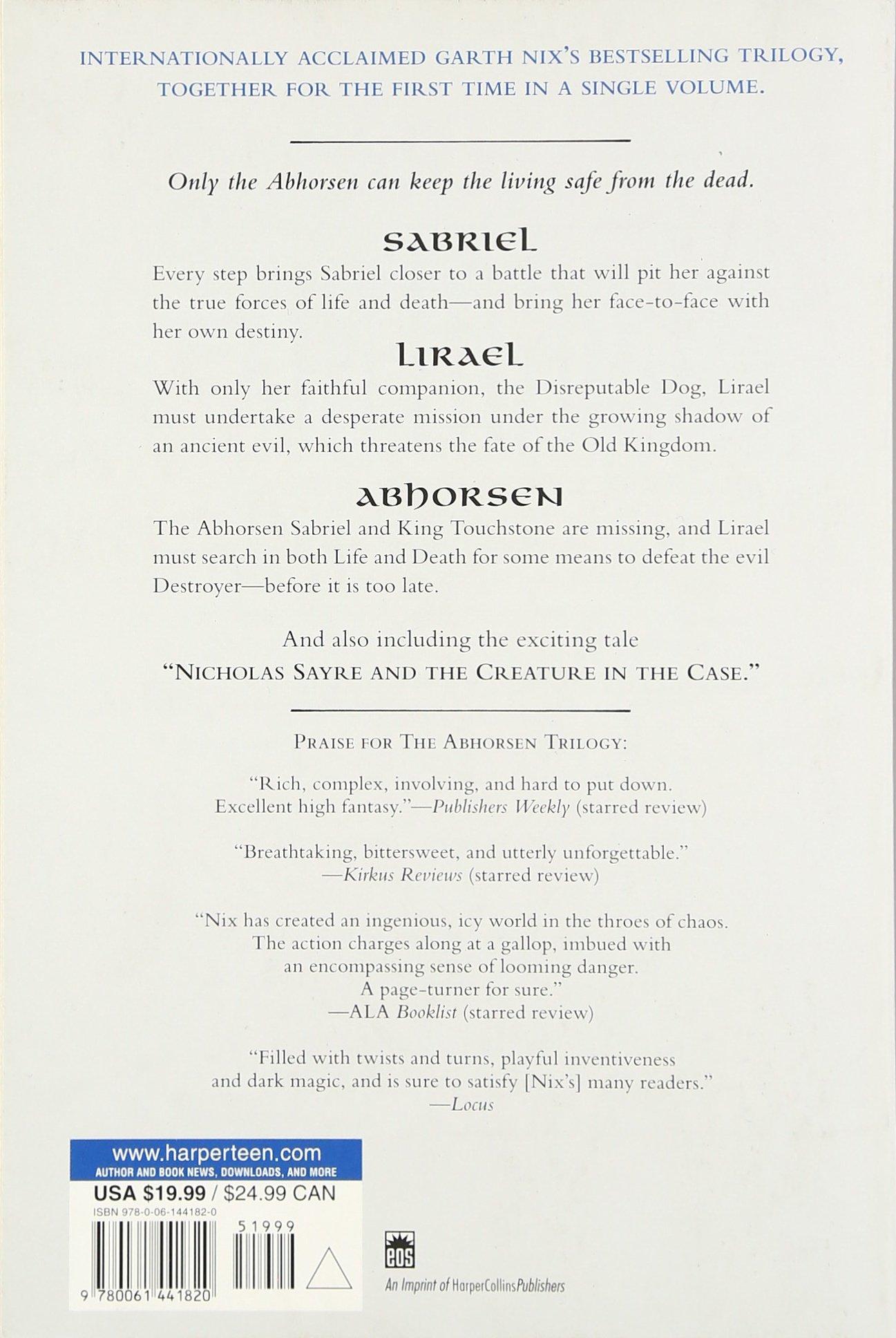 Amazon: The Abhorsen Chronicles (old Kingdom) (9780061441820): Garth  Nix: Books