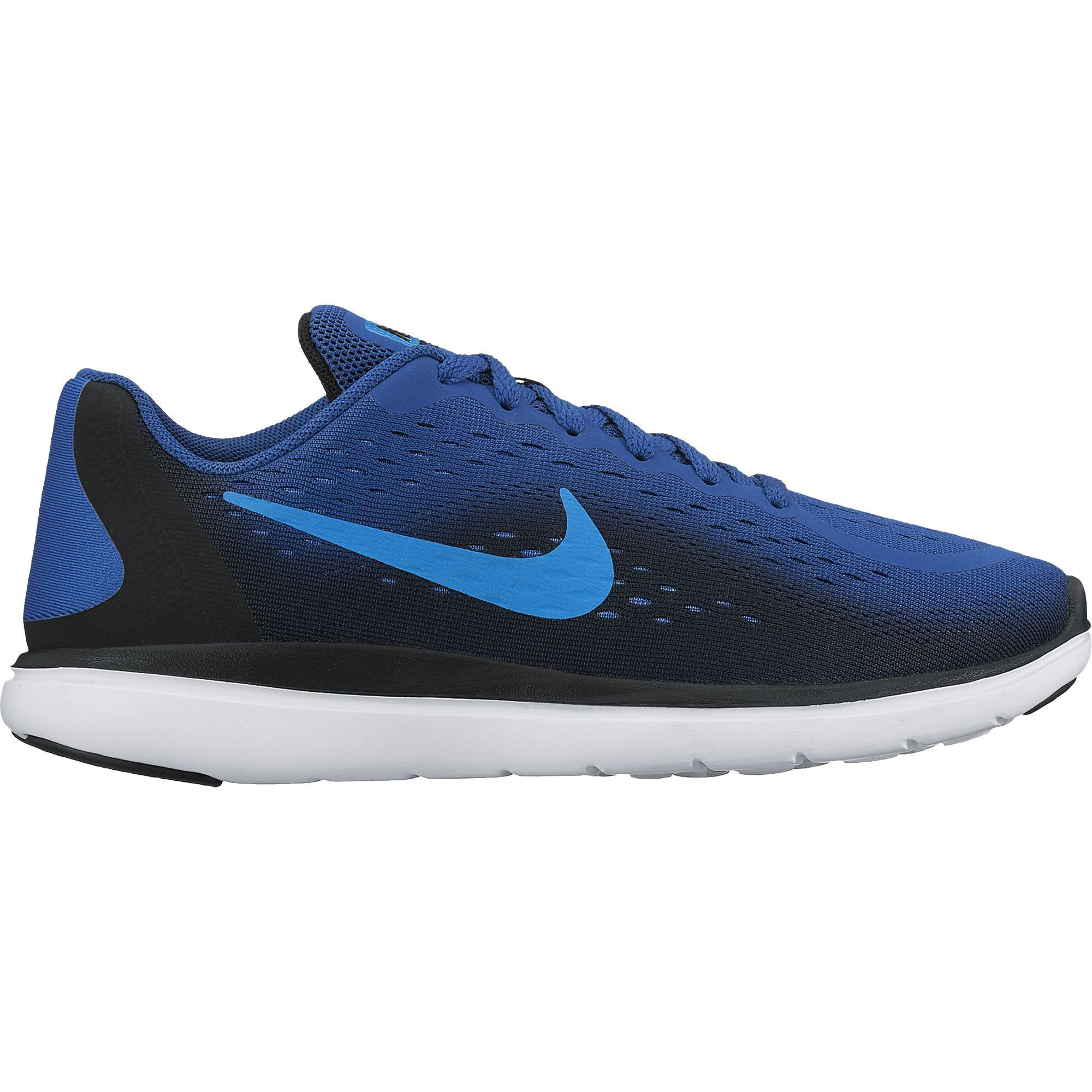 NIKE Boys Flex RN 2017 (GS) Running Shoe Gym Blue/Blue Orbit/Black/White Size 5.5 M US