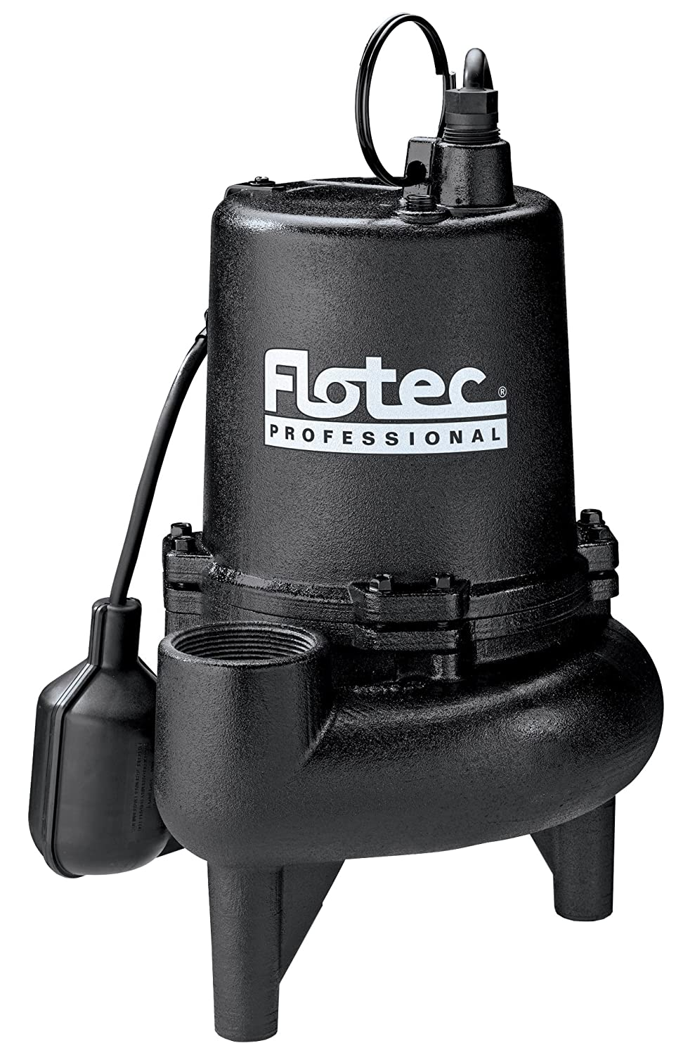Flotec E75STVT Sewage Pump, 170 Gpm, 3/4 Hp, 115 V, 9 A, 60 Hz, 2 In Npt Outlet, Cast Iron