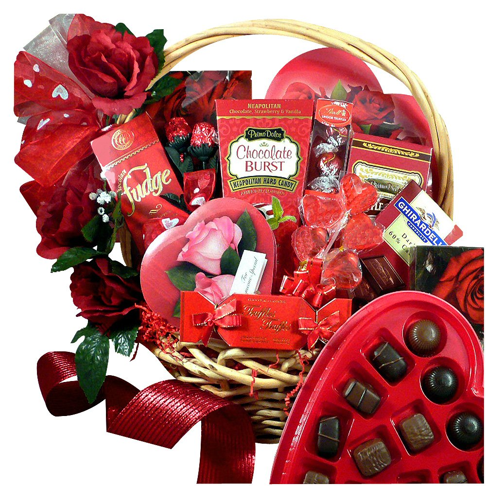 Amazon.com : My Chocolate Valentine Gift Basket : Grocery ...
