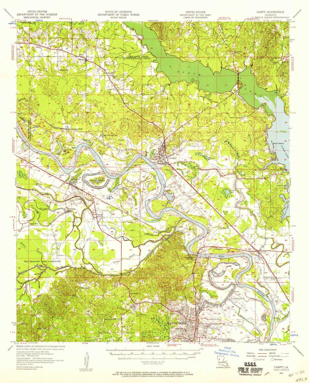 Geographic Map Of Louisiana.Amazon Com Yellowmaps Campti La Topo Map 1 62500 Scale 15 X 15