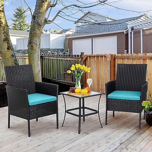Shintenchi 3 Pieces Outdoor Patio Furniture Set