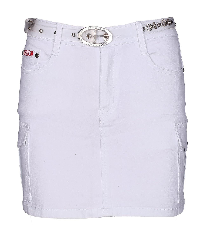 Lets Shop Shop - Falda - Trapecio - para Mujer Blanco Blanco 36 ...