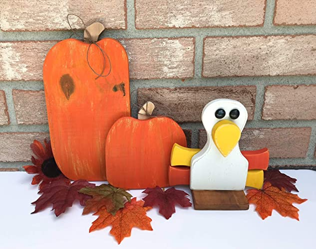 Amazon Com Wooden Thanksgiving Decorations Three Piece Set Fall