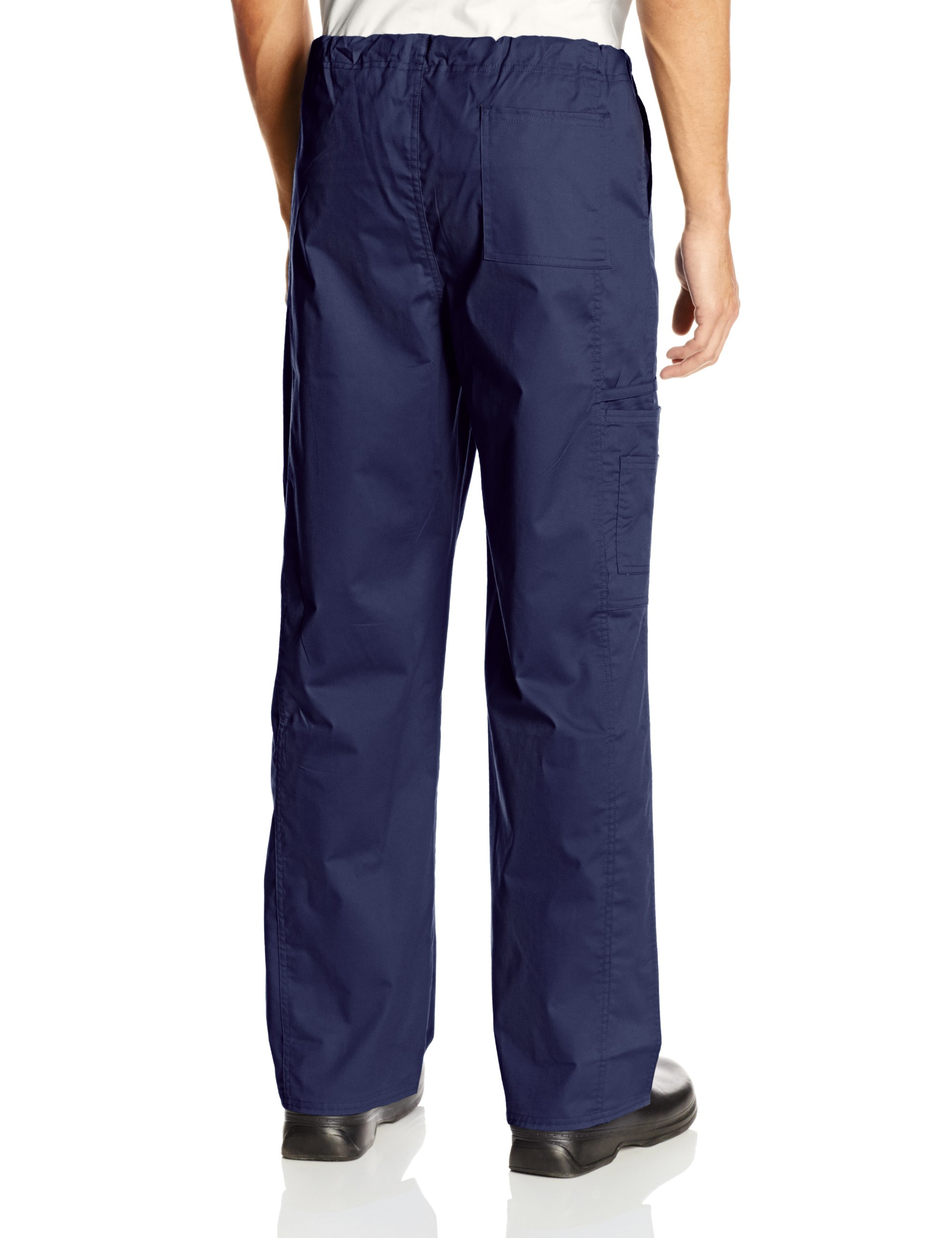 Cherokee Workwear Scrubs Unisex Stretch Cargo Pant, Navy, Small by Cherokee (Image #2)