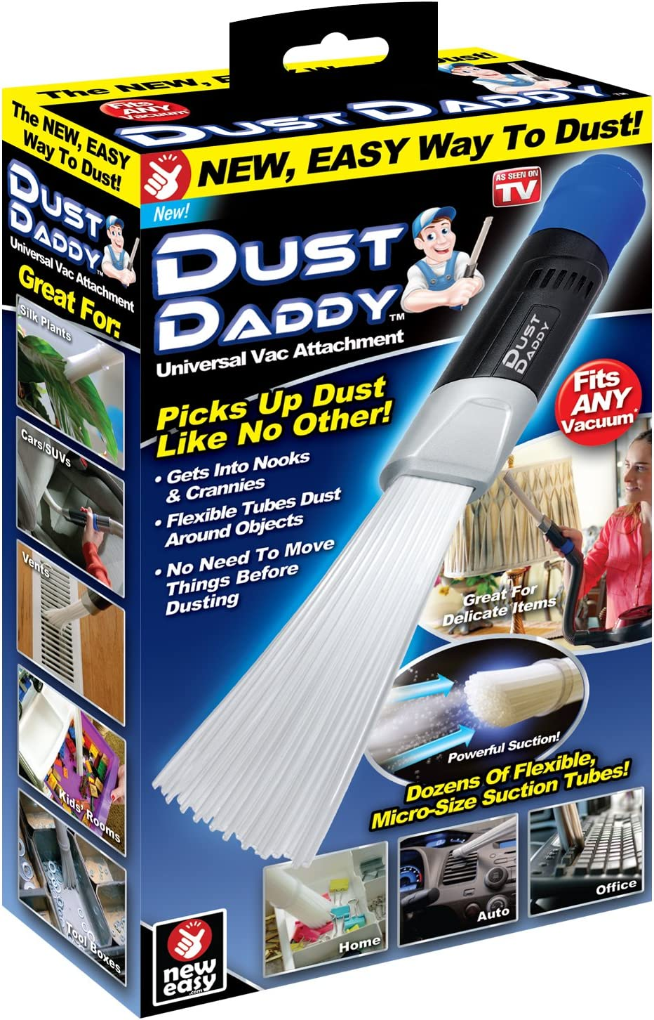 Ontel Dust Daddy   Universal Vacuum Cleaner Attachment   Dust and Dirt Remover   Authentic As Seen on TV