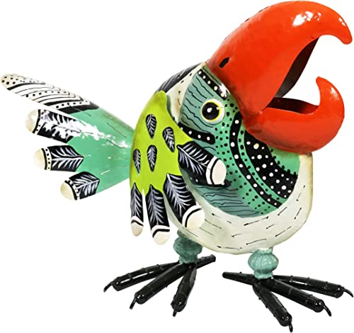 Exhart Colorful Metal Toucan Bird Garden Statue