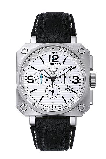 Junkers Horizon 6790-1 - Reloj, correa de cuero color negro: Amazon.es: Relojes