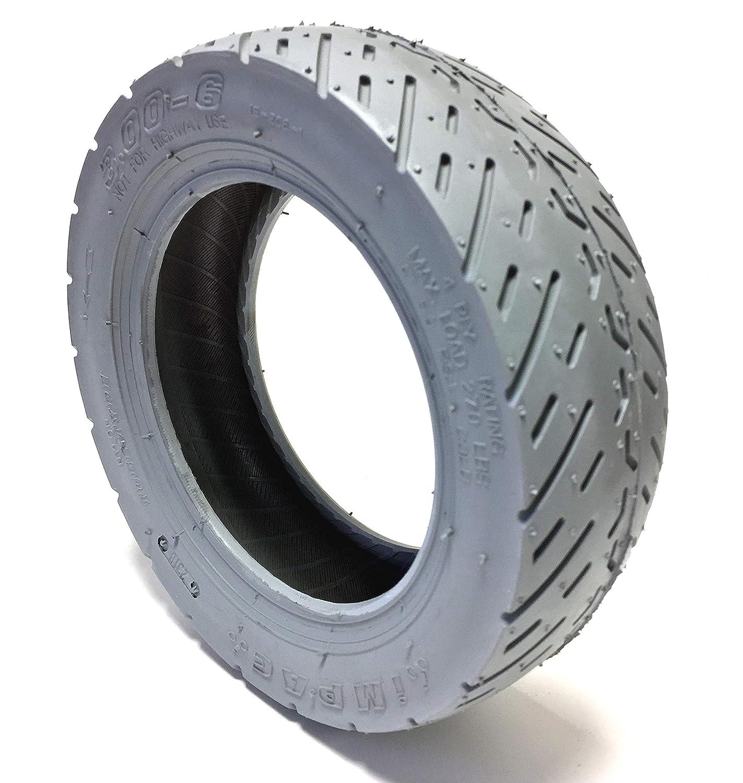 Neumáticos para silla de ruedas Invacare 3.00-6, color gris, capacidad de carga: 270 lbs, presión de aire: 50 PSI