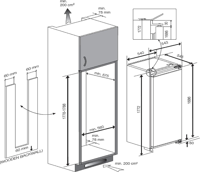 Beko LBI 3002 F Einbau Kühlschrank A 115 kWh Jahr Kühlteil