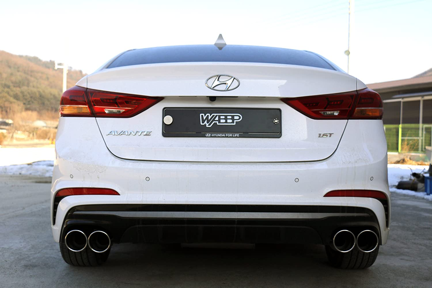 WABBP Double Tips Exhaust Tips 2.3 inlet 3.9 outlet 9.5 Long Exhaust Tail Pipe Silver, 3.9