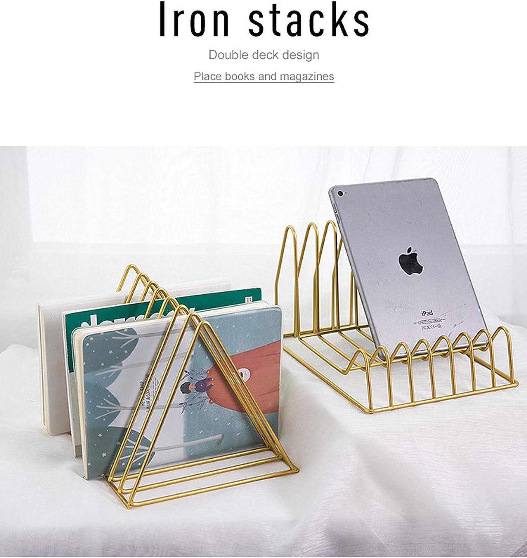 dos para un juego Estanter/ía de hierro triangular para libros y revistas Ins Nordic