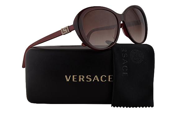 8fcc62f0203 Versace VE4324BA Sunglasses Opal Bordeaux w Brown Gradient Lens 10913 VE  4324-B-A VE