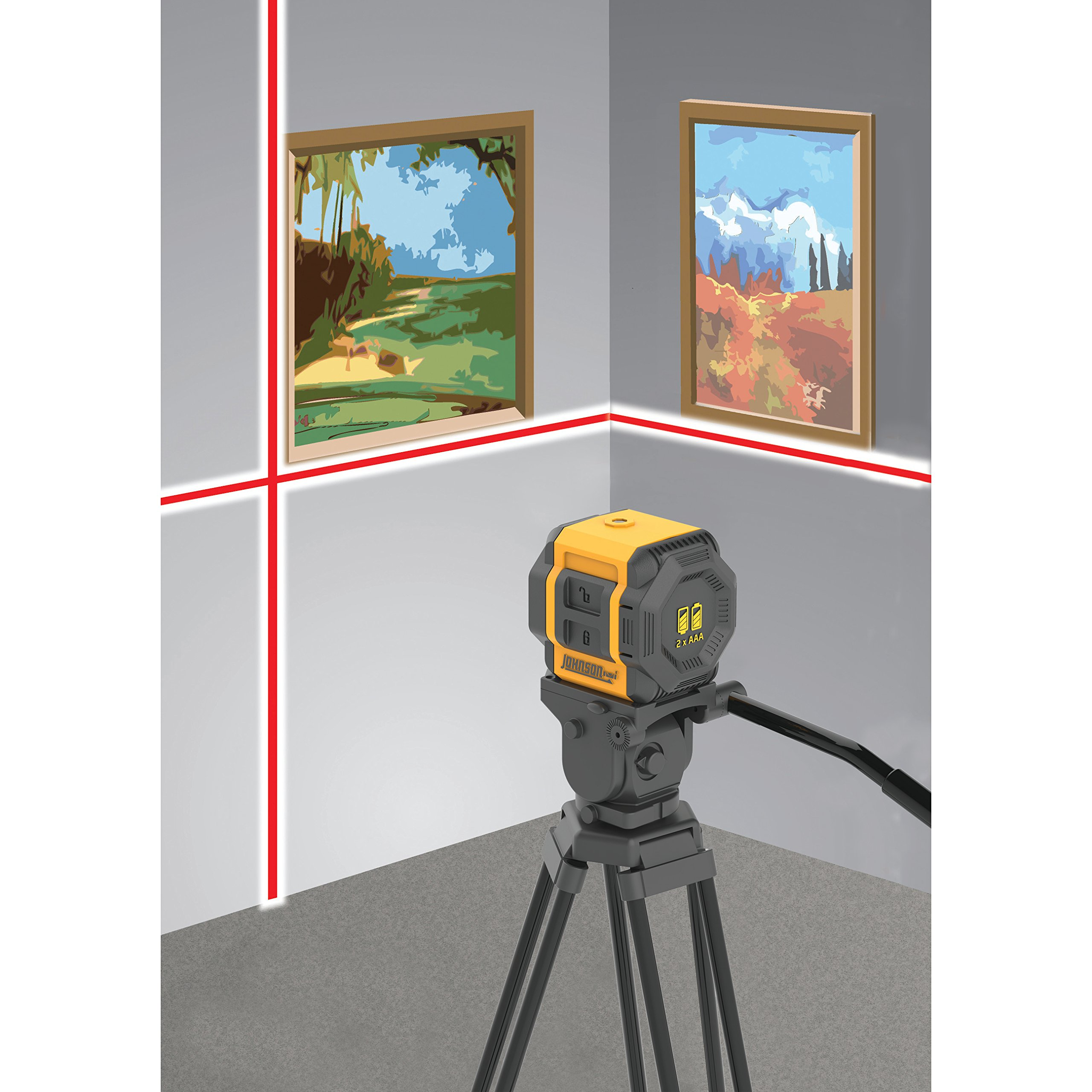 Johnson Level & Tool 40-6603 Self-Leveling Cross-Line Laser Level with Plumb and Level Layout Lines by Johnson Level & Tool (Image #5)