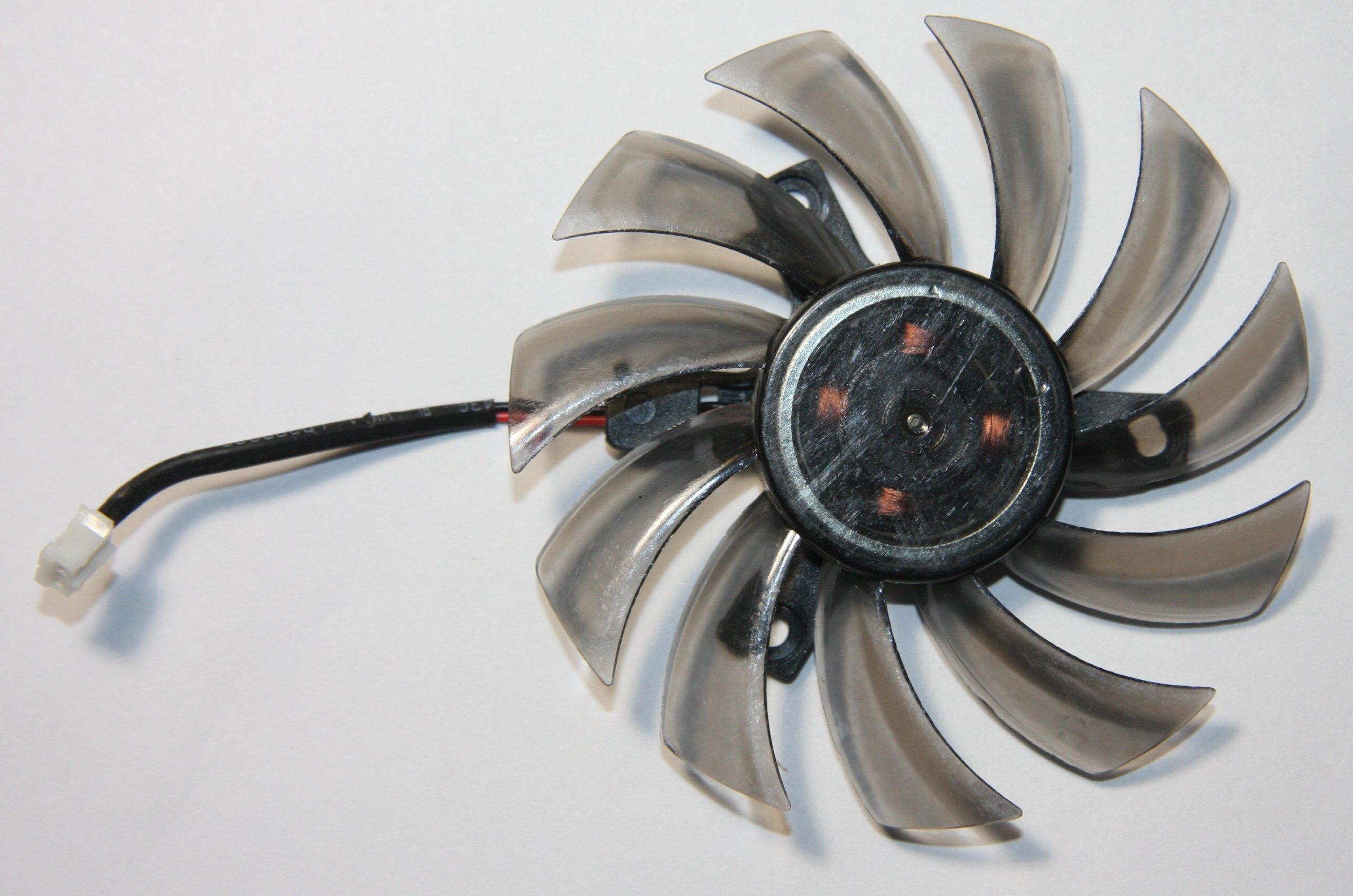 Cooler Fan Single 75mm 2pin Distancia Agujeros 40mm