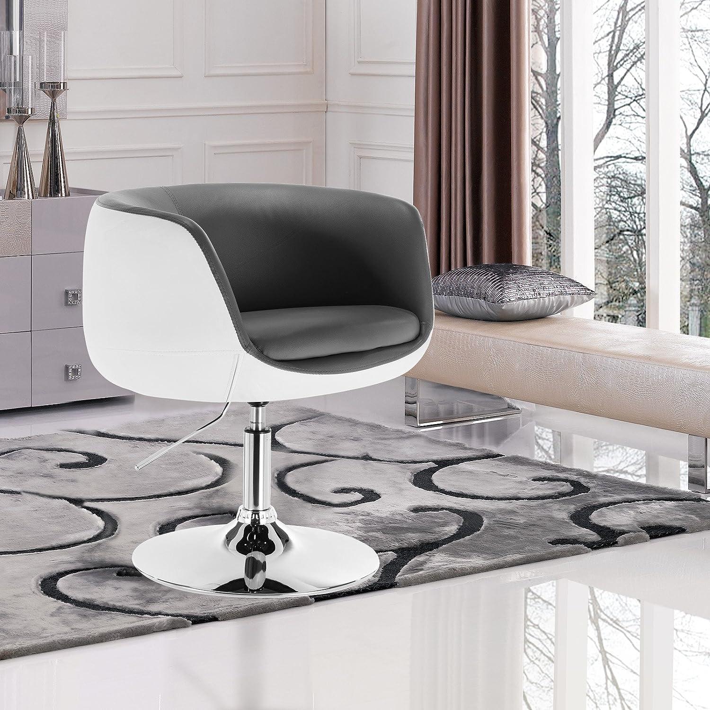 Modern Swivel Armchair Vintage Lounge Chair Black White