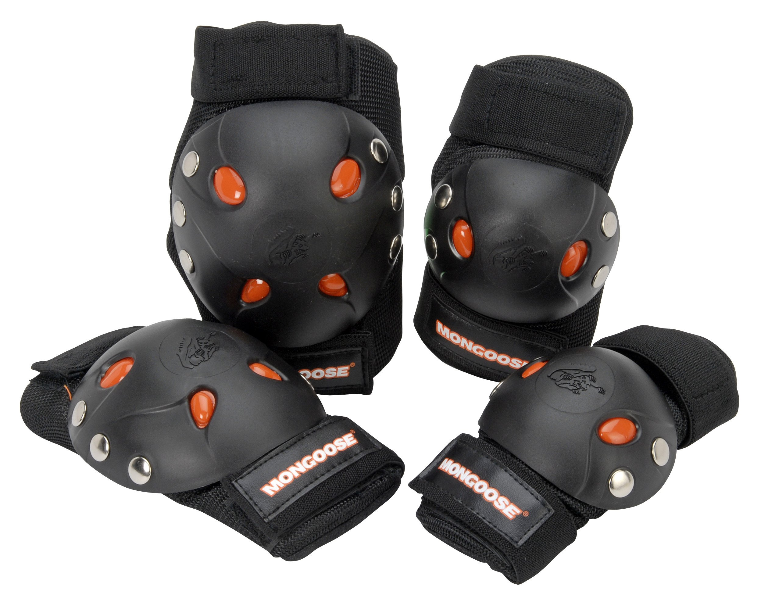 Mongoose BMX Bike Gel Knee and Elbow Pad Set by Mongoose