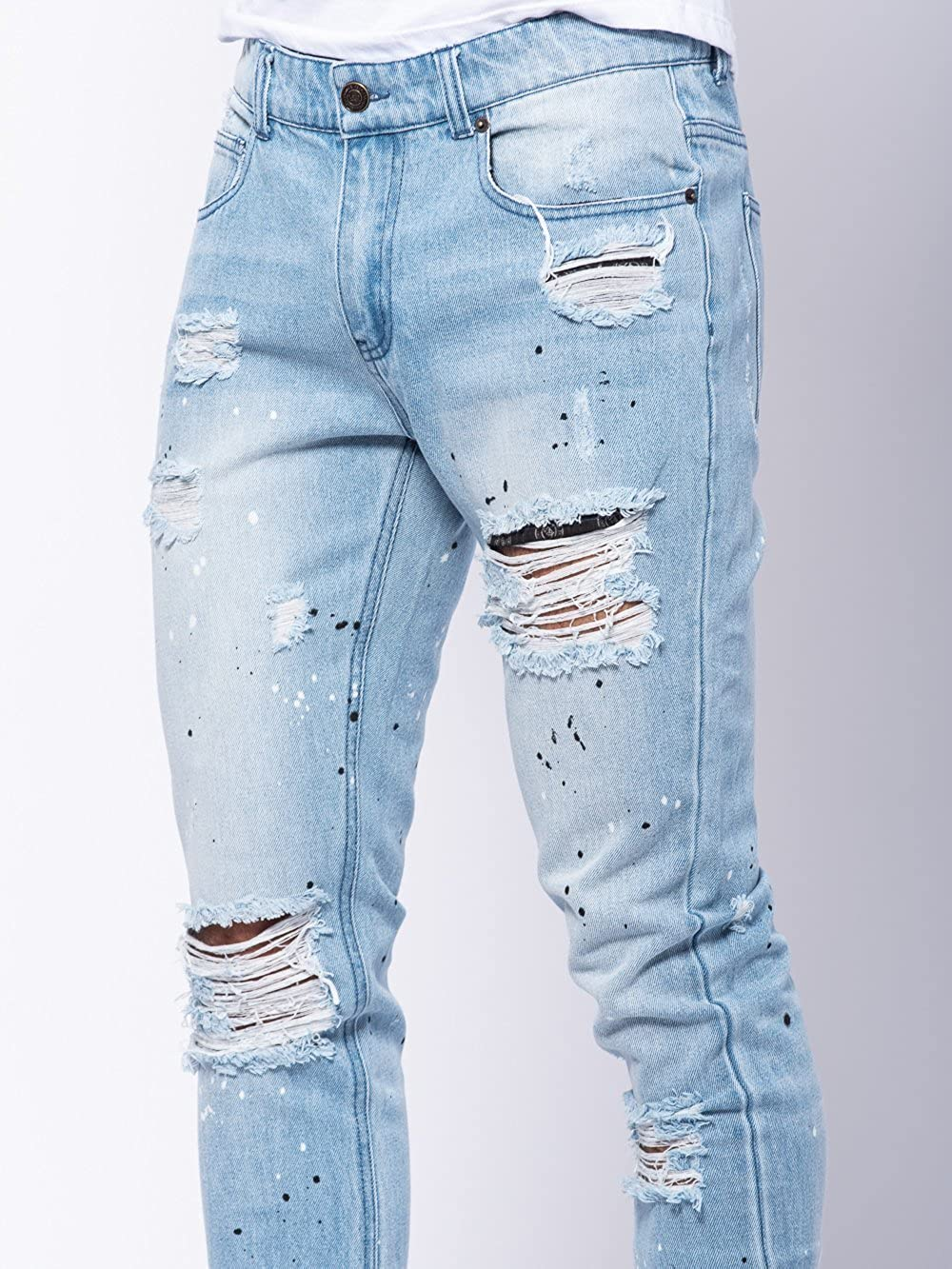 f6a9268b7 ... Young and Reckless - Lancaster Tapered Jeans - Light Blue - - Mens -  Bottoms ...