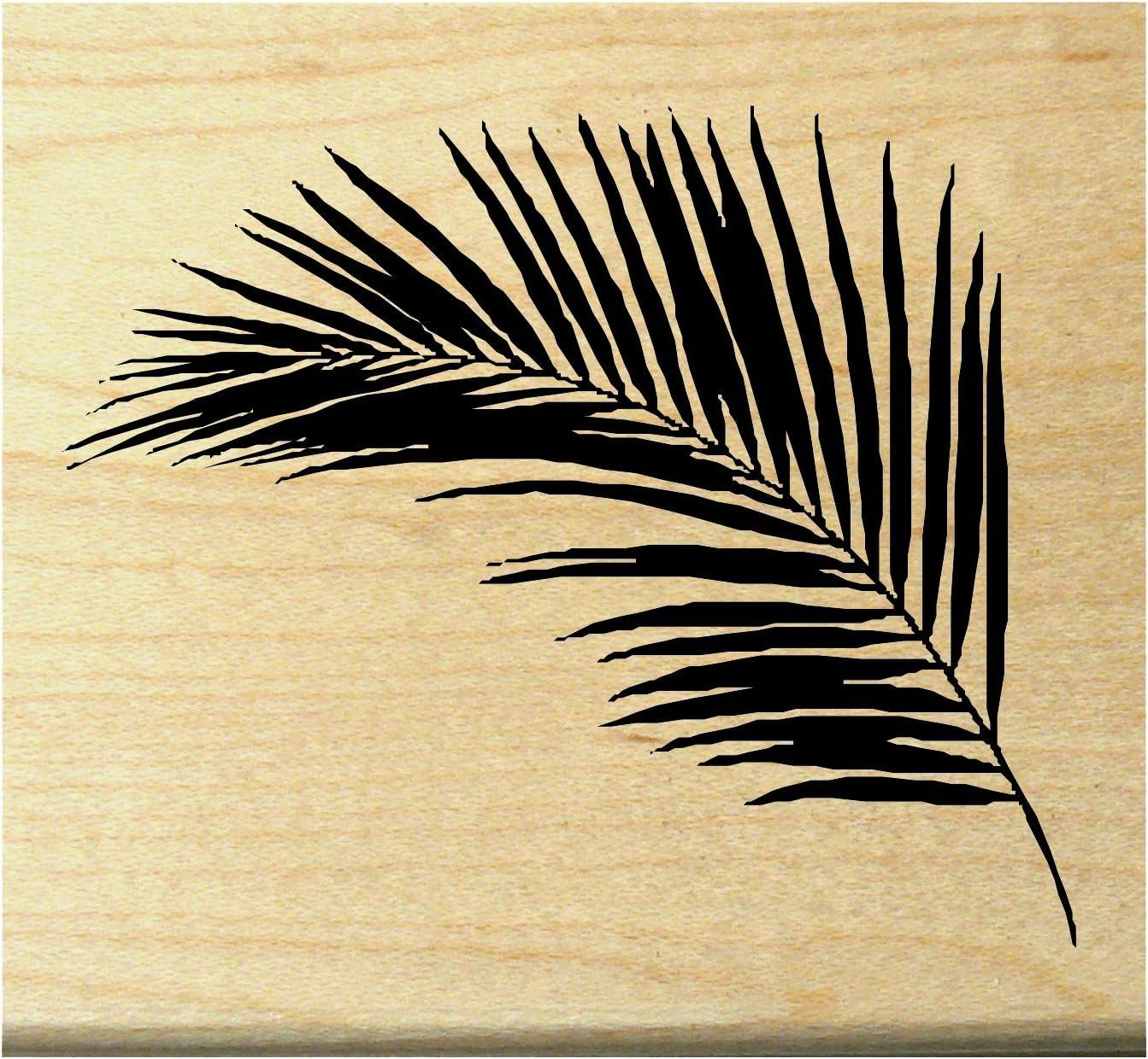 Palm leaf rubber stamp WM P10