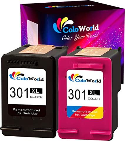 ColoWorld 301XL Cartuchos de tinta para impresora HP 301 ...