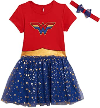 DC Comics Wonder Woman Girls Short Sleeve Costume Dress