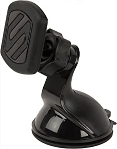 SCOSCHE MAGWSM-SP MagicMount Universal Magnetic Suction Cup Mount Holder for Mobile Devices, Black