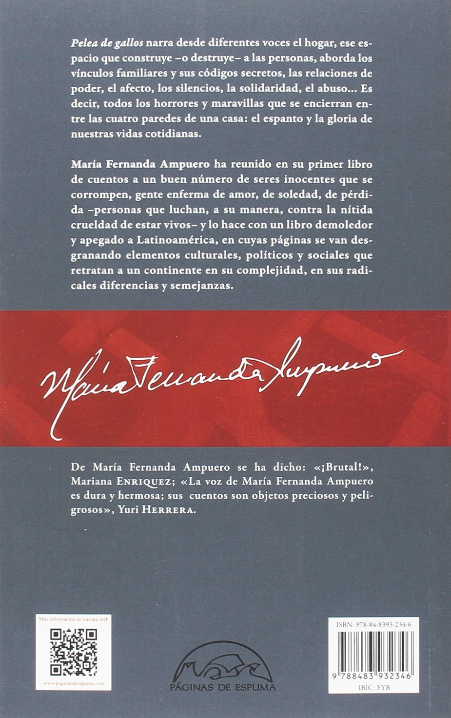 Pelea de gallos: María Fernanda Ampuero: 9788483932346: Amazon.com: Books