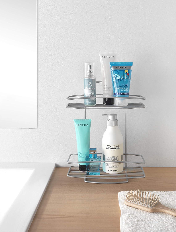 Metaltex Estante baño 2 Pisos, Metal, Gris Metalizado: Amazon.es: Hogar